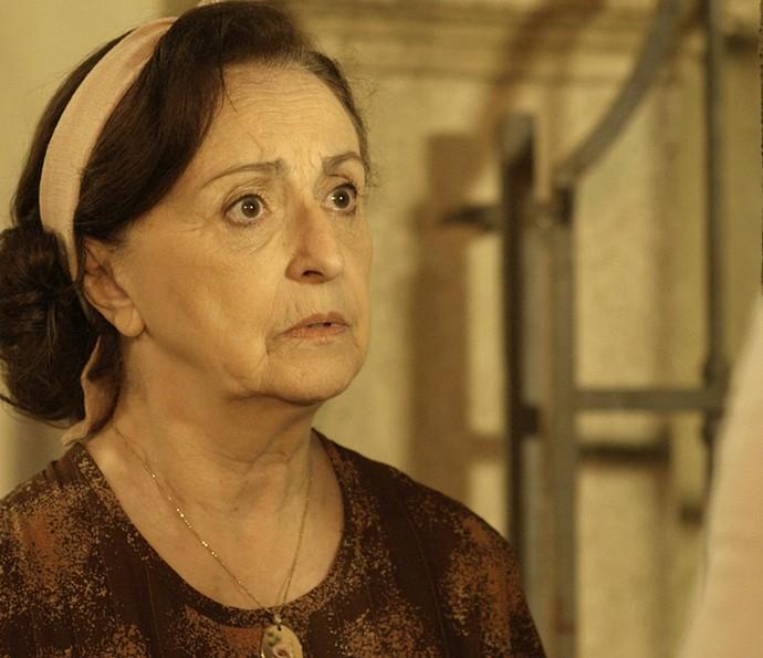 Camélia avisa que Filó não deixou rastros (Foto: TV Globo)