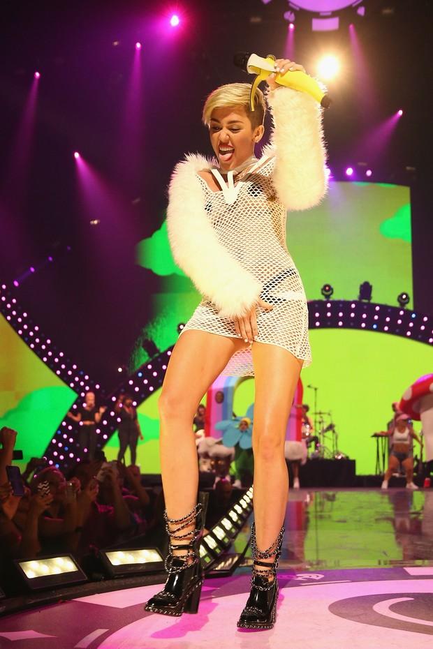 Miley Cyrus em evento em Las Vegas (Foto: AFP / Agência)