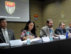 Congresso técnico Segundona (Foto: Rodrigo Corsi / FPF, Divulgação)