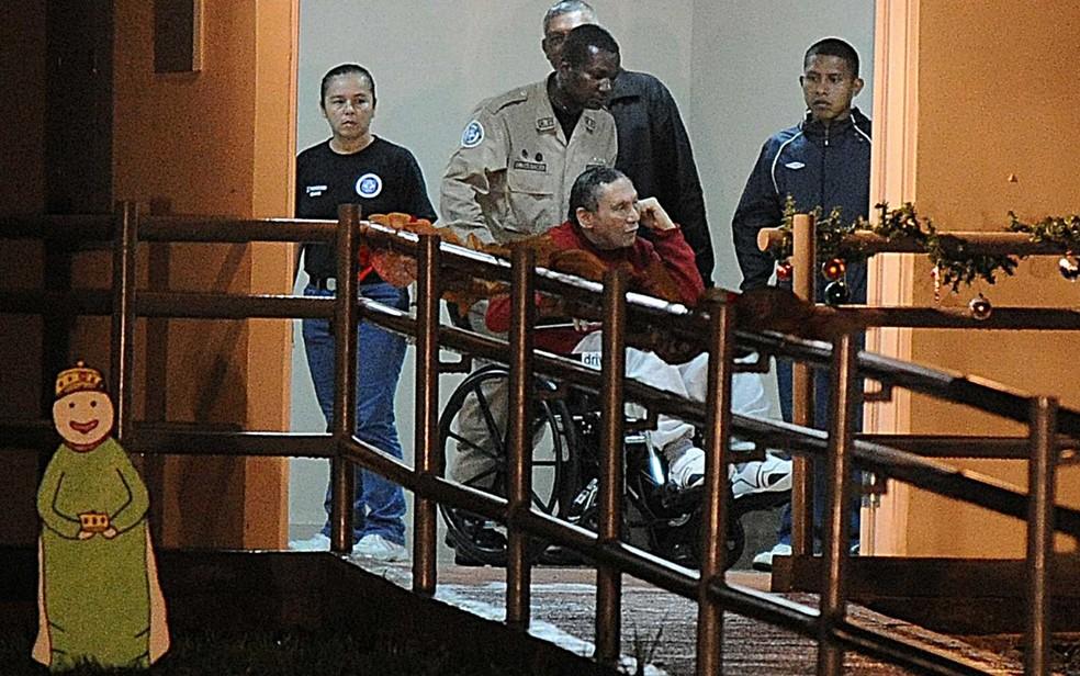 O ex-ditador panamenho Manuel Noriega na chegada à prisão (Foto: Arquivo / Rodrigo Arangua / AFP Photo)