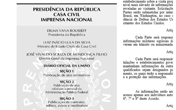 Diário Oficial traz nome de Lula como ministro-chefe da Casa Civil (Foto: Reprodução/Internet)