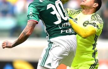 """Wilson reclama de falta e """"miguézinho"""" em lance do primeiro gol do Palmeiras"""