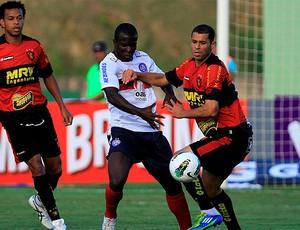jones, atacante do bahia, em jogo contra sport (Foto: Felipe Oliveira/EC Bahia/Divulgação)