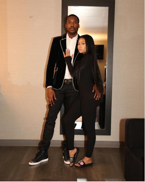 A cantora Nicki Minaj com seu namorado (Foto: Instagram)