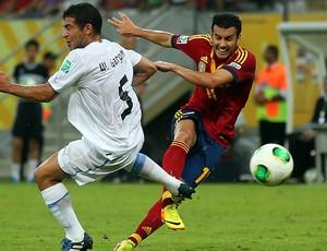 Pedro Rodriguez gol, Espanha x Uruguai (Foto: Getty Images)