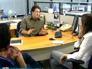 Ambiente de trabalho (Foto: Reprodução/TV Globo)