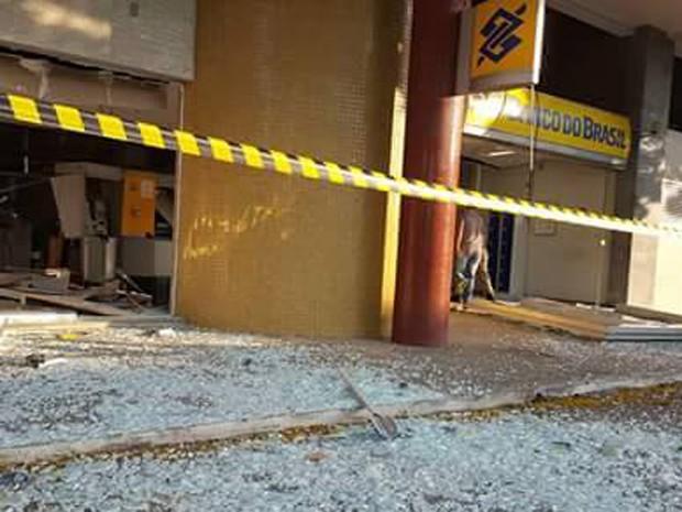 Cláudio, Centro-Oeste, explosão, crime, banco, caixa, banco do brasil (Foto: Polícia Militar/Divulgação)