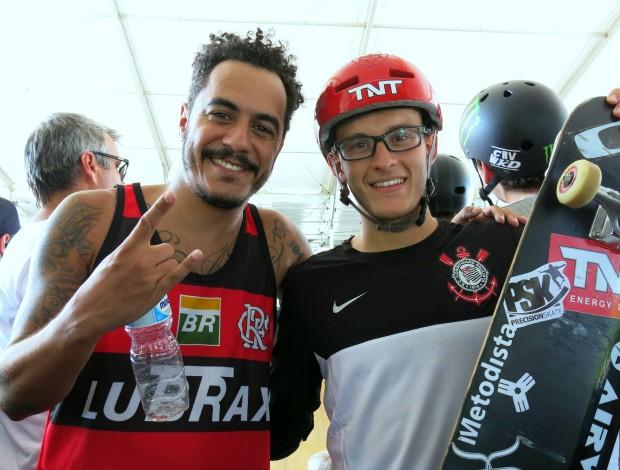 Marcelo D2 e Rony Gomes Mundial de Skate Vertical no Rio de Janeiro (Foto: Ana Carolina Fontes)