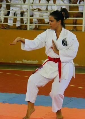 Larissa Carolayne, do karatê, Montes Claros (Foto: Arquivo pessoal)