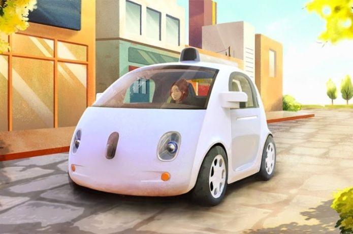 Imagem do protótipo do Google. Até que o carro real é parecido, não? (Foto: Divulgação/Google)