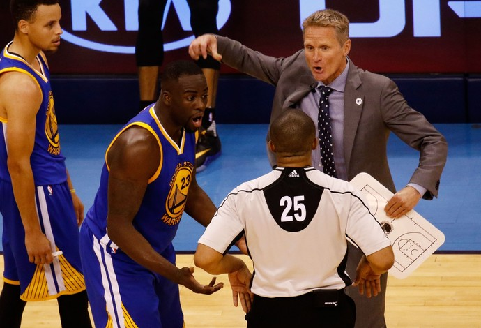 Draymond Green Steve Kerr Warriors NBA Basquete (Foto: Getty Images)