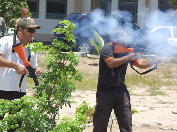 Policiais de Itabaiana receberam treinamento para uso de itens de baixa letalidade (Foto: Divulgação/Secom-PB)