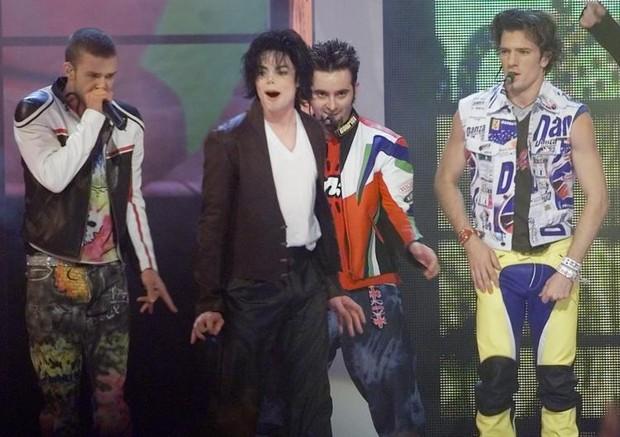 Michael Jackson e N Sync (Foto: MTV)