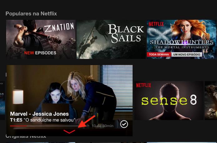 Acessando as opções para um título do Netflix (Foto: Reprodução/Marvin Costa)