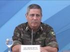 Comandante Militar do Leste, Walter Braga Netto, assume segurança do RJ