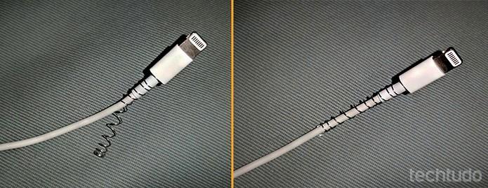 Dica para proteger a base do cabo do carregador  (Foto: Barbara Mannara/TechTudo)
