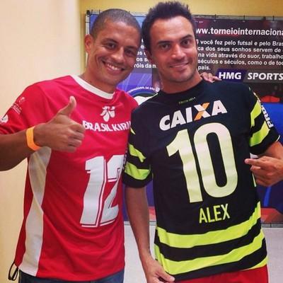 Alex encontra Falcão no Torneio Internacional de São José dos Pinhais-PR (Foto: Reprodução/ Instagram)