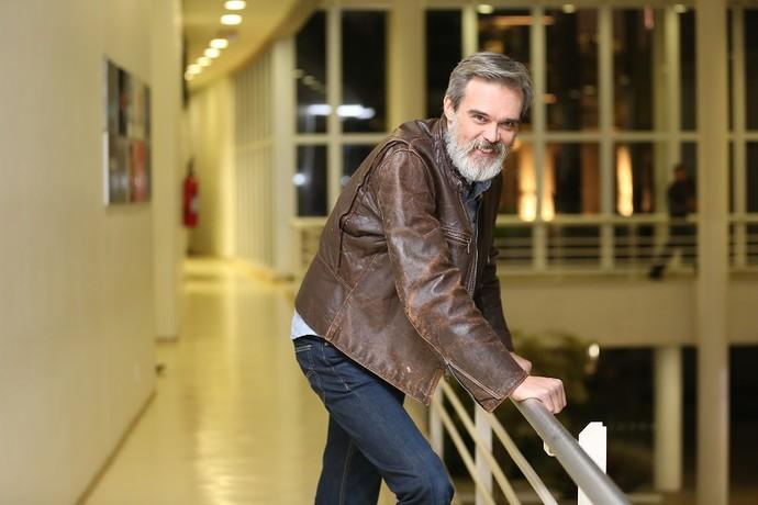 Dalton Vigh nos bastidores do 'Domingão do Faustão' (Foto: Carol Caminha/Gshow)