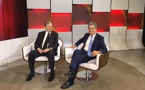 Tasso Jereissati e Jorge Viana conversam sobre a crise