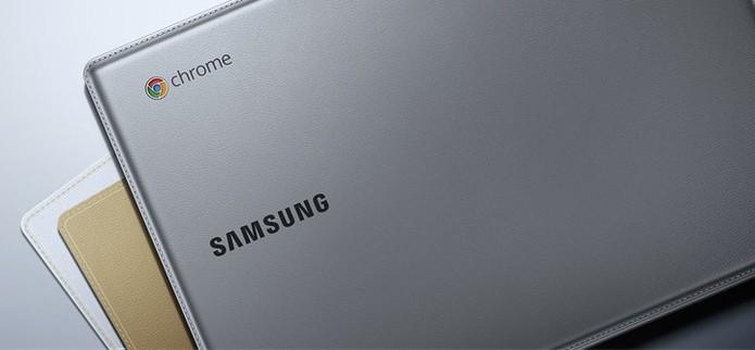Samsung Chromebook 2 tem design que lembra o couro costurado na tampa (Foto: Divulgação/Sony)