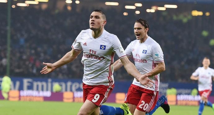 Papadopoulos gol Hamburgo Leverkusen (Foto: Divulgação; Hamburgo)