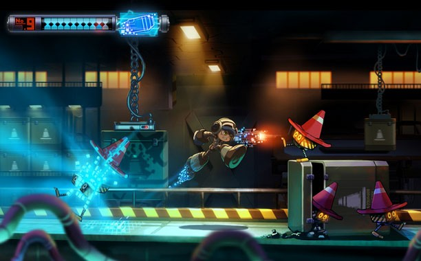 'Mighty No. 9' é game do criador de 'Mega Man' que pede ajuda aos fãs no site 'Kickstarter' (Foto: Divulgação/Comcept)