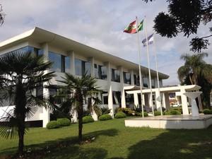 Prefeitura de Campos Novos (Foto: Eduardo Cristófoli/RBS TV)