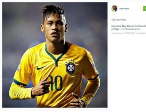 Neymar a foto mais curtida no Instagram