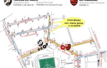 Vasco x Flamengo em São Januário: confira os acessos para cada torcida