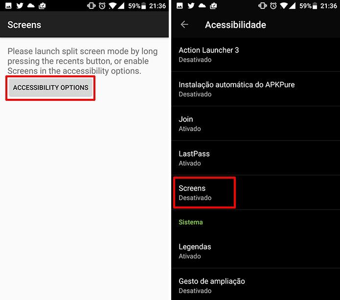 Como abrir dois aplicativos ao mesmo tempo no Android 7 0
