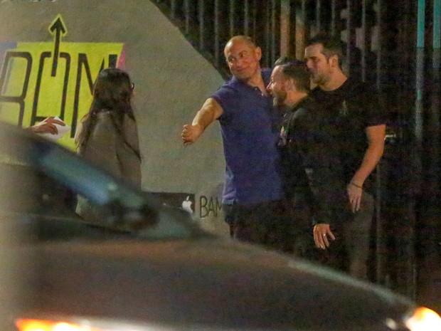 Demi Moore chega a bar em Los Angeles, nos Estados Unidos (Foto: AKM-GSI/ Agência)