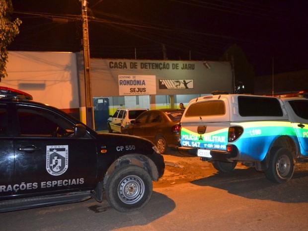 Princípio de motim na Casa de Detenção de Jaru foi controlado  (Foto: Jaru online/Reprodução)