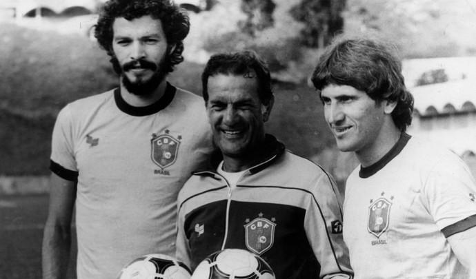Sócrates, Telê e Zico Seleção Brasileira (Foto: Arquivo/Estadão Conteúdo)