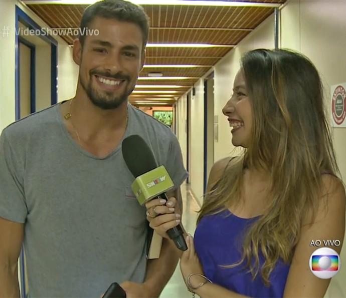 Cauã Reymond fala dos planos para o Carnaval 2016 (Foto: Vídeo Show / TV Globo)