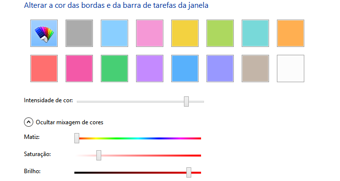 Configurações avançadas de mixagem de cor (Foto: Reprodução/Helito Bijora)