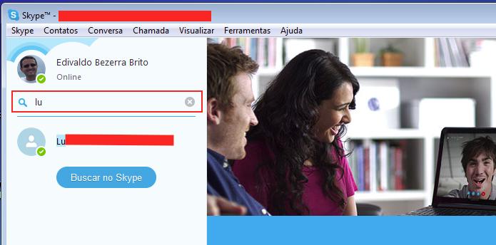 Pesquisando contatos no Skype (Foto: Reprodução/Edivaldo Brito)