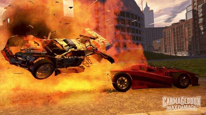 Carmageddon: Max Damage traz de volta a clássica série de combate de carros (Foto: Divulgação/PlayStation Blog)
