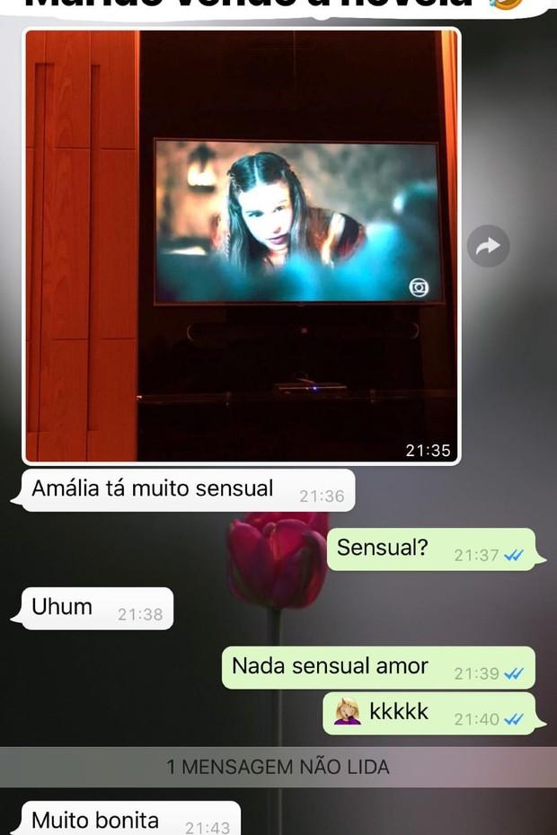 Alexandre Negrão fala sobre Amália (Foto: Reprodução/Instagram Stories)