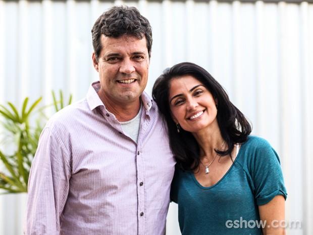 Felipe e Patrícia são amigos de longa data (Foto: Camila Camacho / TV Globo)
