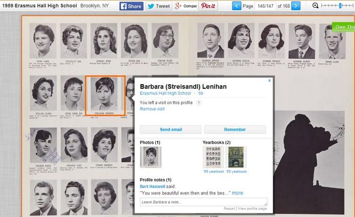 A atriz Barbra Streisand está no Classmates (Foto: Reprodução/Tássia Moretz)