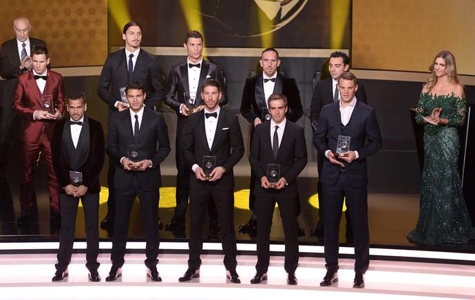 Seleção do ano bola de ouro fifa (Foto: AFP)