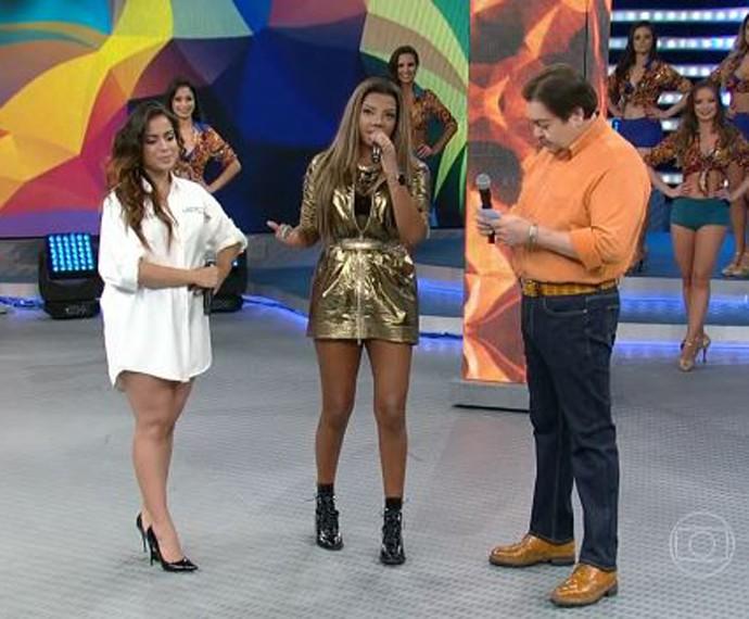 Anitta e Ludmilla descartam rivalidade e falam sobre união dos fãs (Foto: TV Globo)