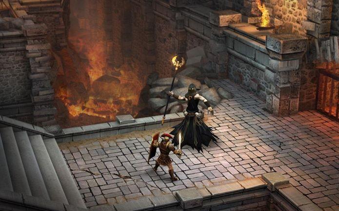 Batalhas épicas em um jogo com muita Mitologia Grega (Foto: Divulgação)