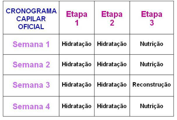 Cronograma Capilar (Foto: Reprodução)