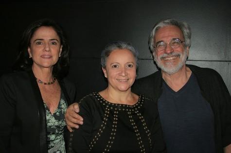 Marieta Severo e Aderbal Freire-Filho com a atriz Vera Novello (Foto: Divulgação)