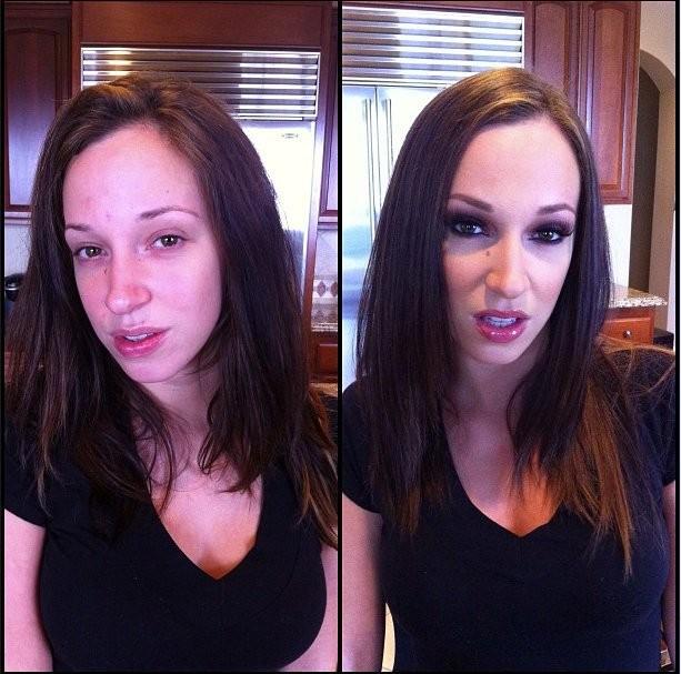 Atriz sem maquiagem 1
