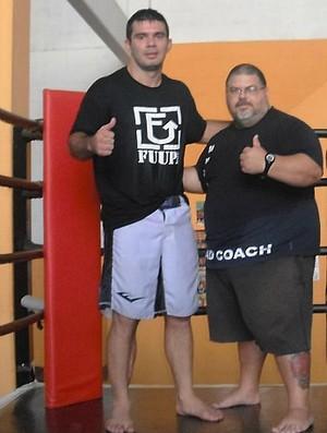 Vitor Vianna e seu treinador, Augusto Nasser (Foto: Arquivo Pessoal/Facebook)