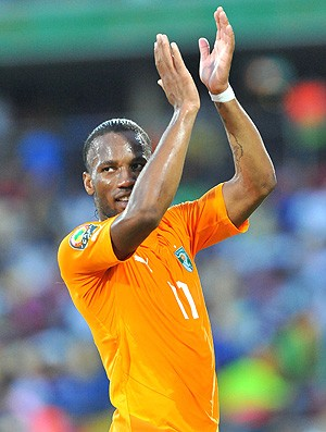 Drogba na partida da Costa do Marfim (Foto: Getty Images)