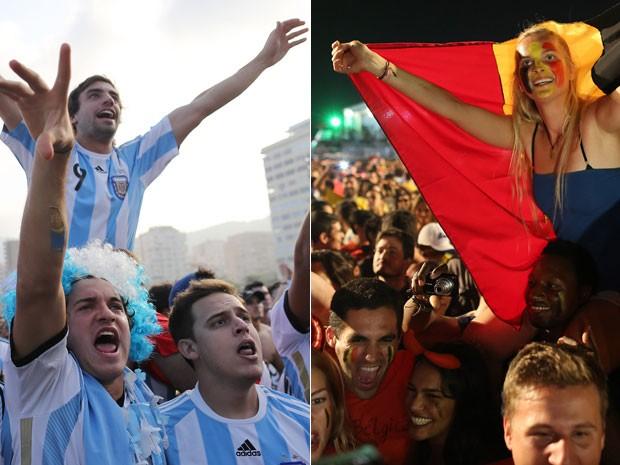 Torcedores de Argentina e Bélgica são esperados neste sábado em Brasília (Foto: AP)