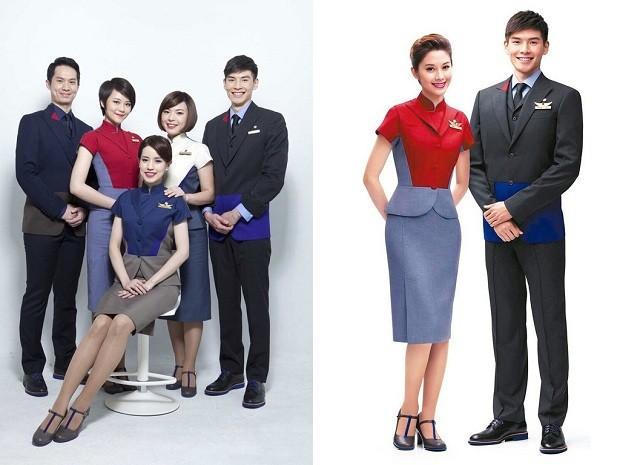 Os uniformes da China Airlines (Foto: Divulgação)